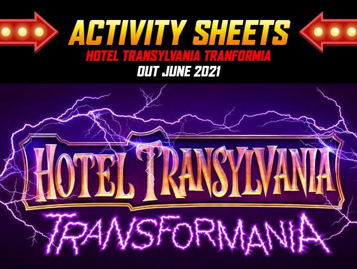Hotel Transylvania Tranformia Activity Sheets