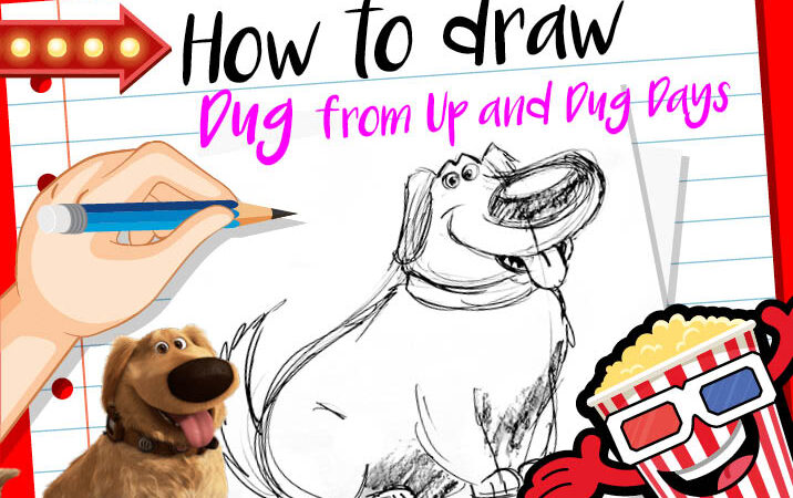 How to Draw Dug from Up and Dug Days | Draw With Pixar | Pixar